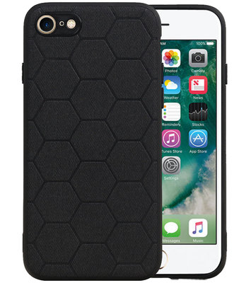 Hexagon Hard Case voor iPhone 8 / iPhone 7 Zwart