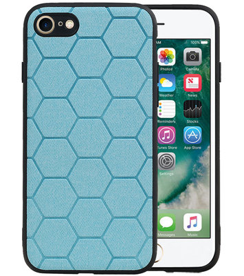Hexagon Hard Case voor iPhone 8 / iPhone 7 Blauw