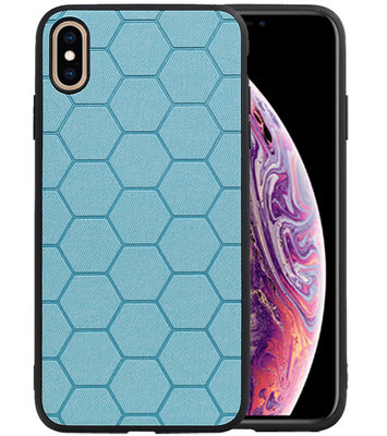 Hexagon Hard Case voor iPhone XS Max Blauw