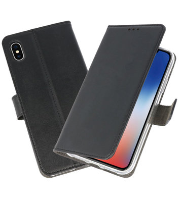 Wallet Cases Hoesje voor iPhone XS - X Zwart