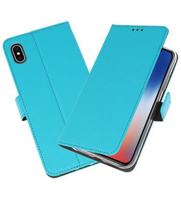 Wallet Cases Hoesje voor iPhone XS - X Blauw