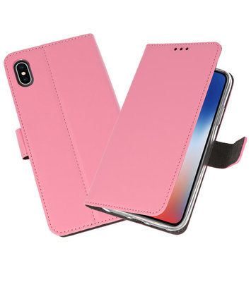 Wallet Cases Hoesje voor iPhone XS - X Roze