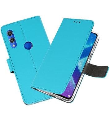 Wallet Cases Hoesje voor Huawei Honor 8X Blauw