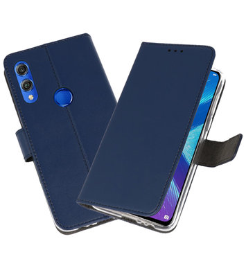 Wallet Cases Hoesje voor Huawei Honor 8X Navy
