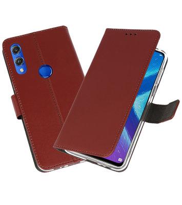 Wallet Cases Hoesje voor Huawei Honor 8X Bruin