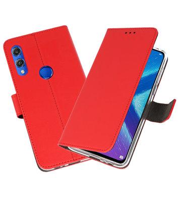 Wallet Cases Hoesje voor Huawei Honor 8X Rood
