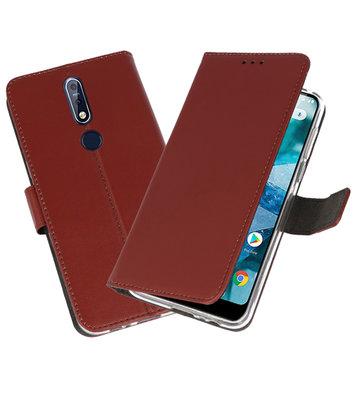 Wallet Cases Hoesje voor Nokia 7.1 Bruin