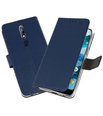 Wallet Cases Hoesje voor Nokia 7.1 Navy