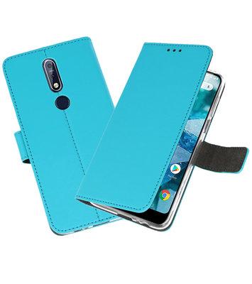 Wallet Cases Hoesje voor Nokia 7.1 Blauw