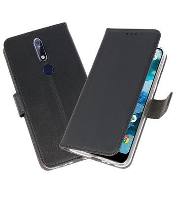 Wallet Cases Hoesje voor Nokia 7.1 Zwart