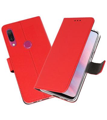 Wallet Cases Hoesje voor Huawei Y9 2019 Rood