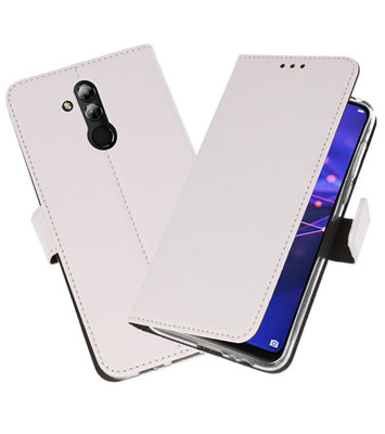 Wallet Cases Hoesje voor Huawei Mate 20 Lite Wit
