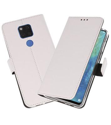 Wallet Cases Hoesje voor Huawei Mate 20 X Wit