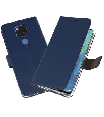 Wallet Cases Hoesje voor Huawei Mate 20 X Navy