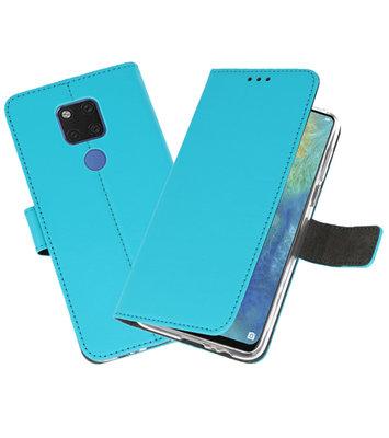 Wallet Cases Hoesje voor Huawei Mate 20 X Blauw