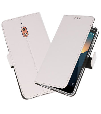 Wallet Cases Hoesje voor Nokia 2.1 Wit