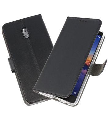 Wallet Cases Hoesje voor Nokia 3.1 Zwart