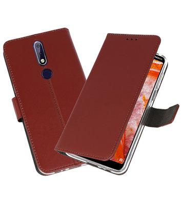 Wallet Cases Hoesje voor Nokia 3.1 Plus Bruin