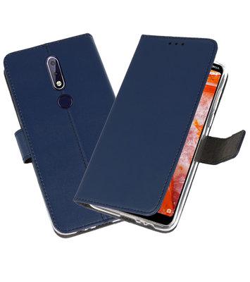 Wallet Cases Hoesje voor Nokia 3.1 Plus Navy