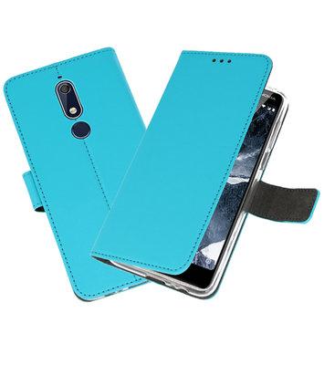 Wallet Cases Hoesje voor Nokia 5.1 Blauw