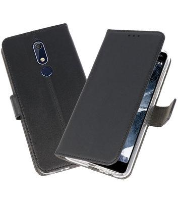 Wallet Cases Hoesje voor Nokia 5.1 Zwart