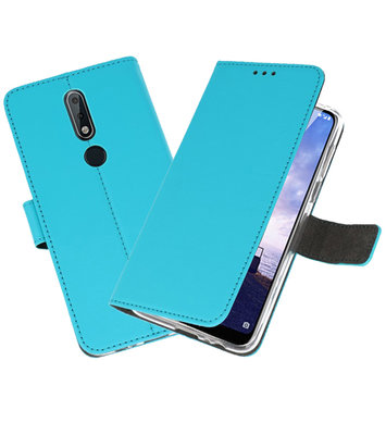 Wallet Cases Hoesje voor Nokia X6 6.1 Plus Blauw