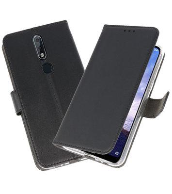 Wallet Cases Hoesje voor Nokia X6 6.1 Plus Zwart