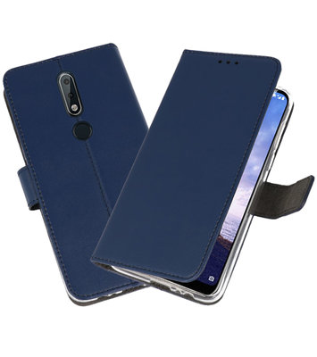 Wallet Cases Hoesje voor Nokia X6 6.1 Plus Navy