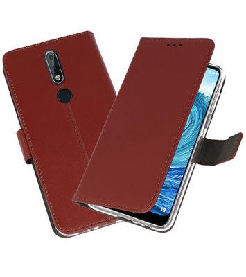Wallet Cases Hoesje voor Nokia X5 5.1 Plus Bruin