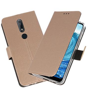 Wallet Cases Hoesje voor Nokia X5 5.1 Plus Goud