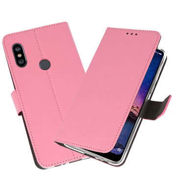 Wallet Cases Hoesje voor XiaoMi Redmi Note 6 Pro Roze