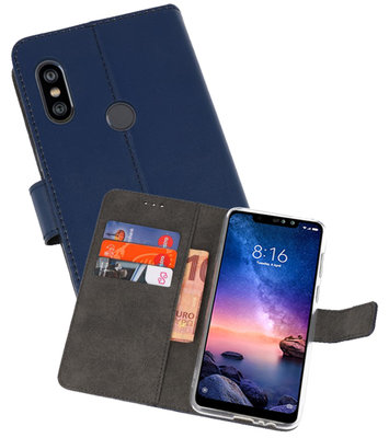 Wallet Cases Hoesje voor XiaoMi Redmi Note 6 Pro Navy
