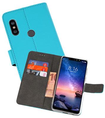 Wallet Cases Hoesje voor XiaoMi Redmi Note 6 Pro Blauw
