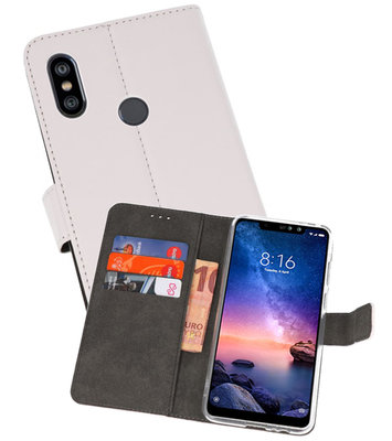 Wallet Cases Hoesje voor XiaoMi Redmi Note 6 Pro Wit