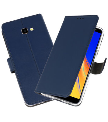 Wallet Cases Hoesje voor Galaxy J4 Plus Navy