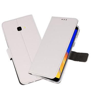 Wallet Cases Hoesje voor Galaxy J4 Plus Wit