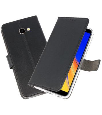 Wallet Cases Hoesje voor Galaxy J4 Plus Zwart