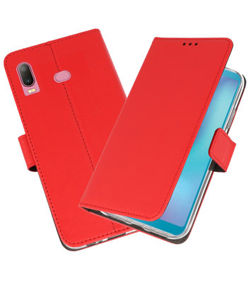 Wallet Cases Hoesje voor Samsung Galaxy A6s Rood