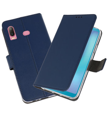Wallet Cases Hoesje voor Samsung Galaxy A6s Navy