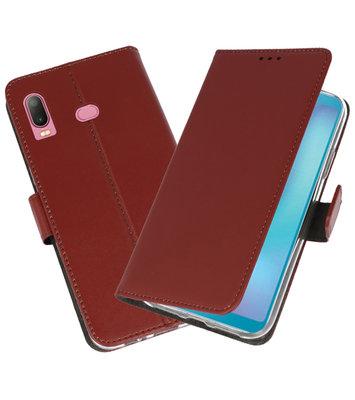 Wallet Cases Hoesje voor Samsung Galaxy A6s Bruin