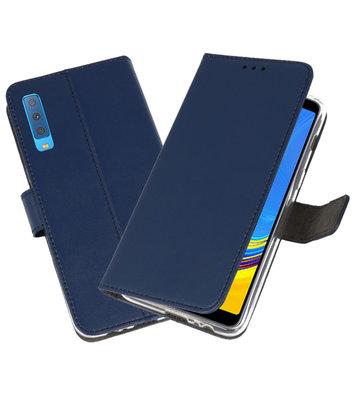 Wallet Cases Hoesje voor Galaxy A7 (2018) Navy