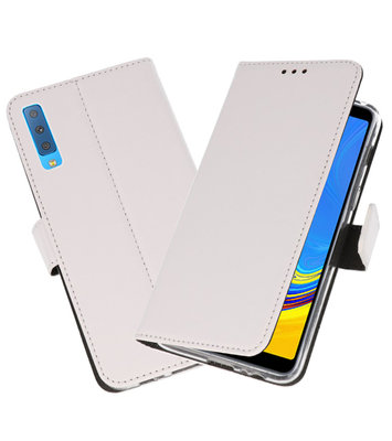 Wallet Cases Hoesje voor Galaxy A7 (2018) Wit
