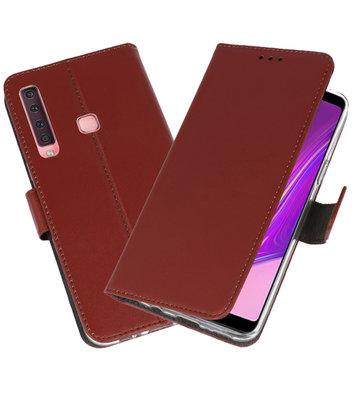 Wallet Cases Hoesje voor Samsung Galaxy A9 2018 Bruin