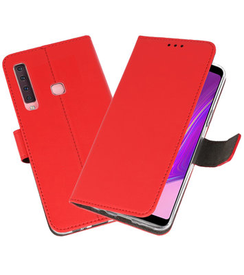 Wallet Cases Hoesje voor Samsung Galaxy A9 2018 Rood