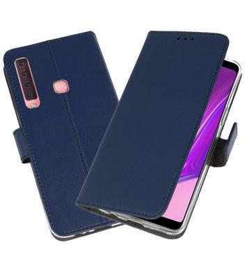 Wallet Cases Hoesje voor Samsung Galaxy A9 2018 Navy