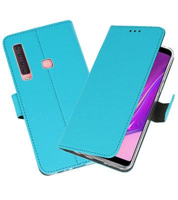Wallet Cases Hoesje voor Samsung Galaxy A9 2018 Blauw