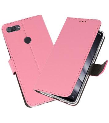 Wallet Cases Hoesje voor XiaoMi Mi 8 Lite Roze