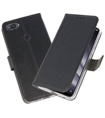 Wallet Cases Hoesje voor XiaoMi Mi 8 Lite Zwart