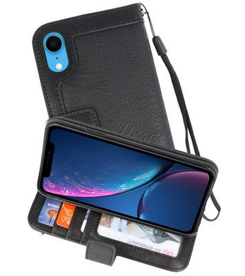 Luxe Portemonnee Telefoonhoesje voor iPhone XR Zwart