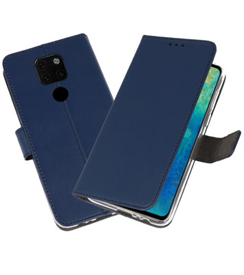 Wallet Cases Hoesje voor Huawei Mate 20 Navy